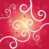Het ornament van de valentijnskaart royalty-vrije illustratie