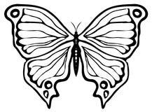 Het ornament van de vlinder Stock Fotografie