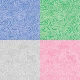 Het ornament van de werveling (naadloze vector wallaper) Stock Afbeeldingen