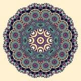 Het ornament van het cirkelkant, ronde sier geometrisch Stock Foto's