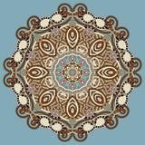 Het ornament van het cirkelkant, ronde sier geometrisch Stock Afbeelding