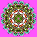 Het ornament van het cirkelkant, ronde sier geometrisch Royalty-vrije Stock Foto