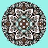Het ornament van het cirkelkant, ronde sier geometrisch Stock Foto