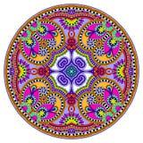 Het ornament van het cirkelkant, ronde sier geometrisch Royalty-vrije Stock Fotografie