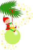 Het Ornament van het Elf van Kerstmis Stock Afbeelding