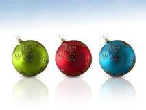 Het Ornament van het Glas van het trio Stock Foto's