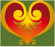 Het ornament van het hart Stock Fotografie