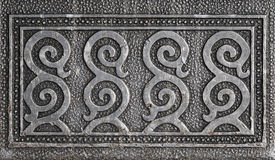 Het ornament van het metaal. Stock Foto