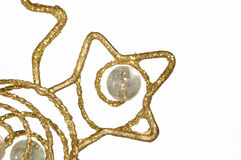Het ornament van Kerstmis - Gouden samenvatting, detail stock foto