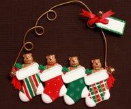 Het ornament van Kerstmis klaar voor verpersoonlijking Royalty-vrije Stock Afbeeldingen