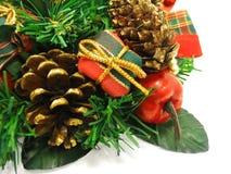 Het ornament van Kerstmis op witte achtergrond Royalty-vrije Stock Foto