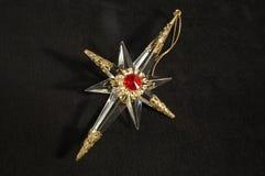 Het ornament van Kerstmis - Poolster, geheel stock afbeeldingen
