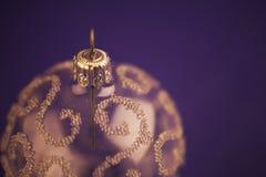 Het ornament van Kerstmis van het glas Stock Afbeeldingen