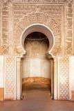 Het ornament van Marrakech madrasah Stock Fotografie