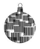 Het Ornament van streepjescodekerstmis  Stock Afbeelding