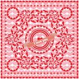 Het ornament van Valentine ` s Royalty-vrije Stock Afbeeldingen