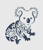 Het ornamentdecoratie van de koala stock illustratie