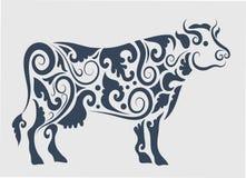 Het ornamentdecoratie van de koe Stock Foto