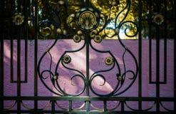 Het ornamentelement van de metaalomheining royalty-vrije stock afbeelding