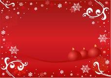 Het ornamentframe van Kerstmis stock illustratie