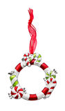 Het ornamentframe van Kerstmis Stock Foto's