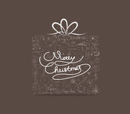 Het ornamenthand getrokken pictogram van de Kerstmisgift De kaart van de groet Royalty-vrije Stock Afbeeldingen