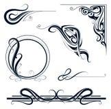 Het ornamentreeks van de Jugendstil royalty-vrije illustratie