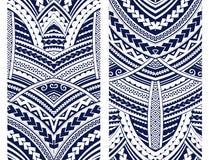 Het ornamentreeks van de Maoristijl stock illustratie