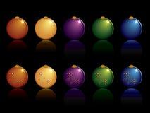 Het ornamentreeks van Kerstmis Royalty-vrije Stock Afbeeldingen
