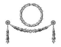 Het ornamentvector van de kroon royalty-vrije illustratie