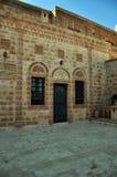 Het Orthodoxe Klooster van Mor Gabriele in het zuidoosten van Turkije stock foto's