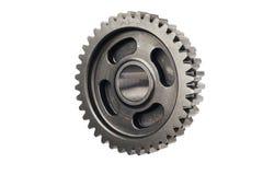 Het oud wiel van het metaaltoestel of pignondeel, de verminderingsverhouding van het Motorfietstoestel gedreven die toestel op wi royalty-vrije stock foto