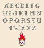 Het oude alfabet van de schooltatoegering Stock Afbeelding