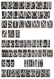 Het oude alfabet van metaalbrieven Royalty-vrije Stock Foto