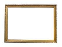 Het oude antieke goud plateerde houten omlijsting royalty-vrije stock foto's