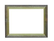 Het oude antieke goud plateerde houten omlijsting stock foto's