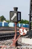 Het oude apparaat van de spoorwegomschakeling Royalty-vrije Stock Fotografie