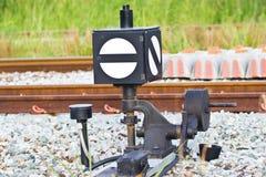 Het oude apparaat van de spoorwegomschakeling Stock Afbeeldingen