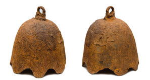 Het oude Aziatische gietijzer van de alarmklok Royalty-vrije Stock Afbeeldingen