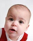 Het oude babymeisje van negen maanden stock afbeeldingen