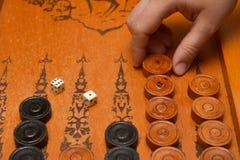 Het oude backgammon van het de raadsspel van het oosten royalty-vrije stock afbeeldingen
