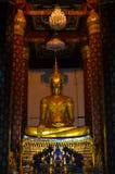 Het oude beeld van Boedha Stock Foto