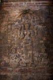 Het Oude Beeldhouwwerk van Wat van Angkor Royalty-vrije Stock Afbeeldingen