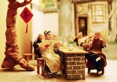 Het oude beeldje van de Klei van Peking Royalty-vrije Stock Foto