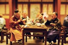 Het oude beeldje van de Klei van Peking Stock Foto's