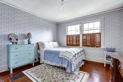 Het oude binnenland van de manierslaapkamer Stock Fotografie