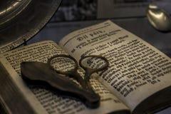 Het oude boek van het kasteelgeheugen Stock Afbeeldingen