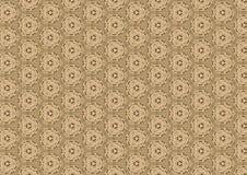 Het oude Bruine Antieke Patroon van het Kant Stock Foto's