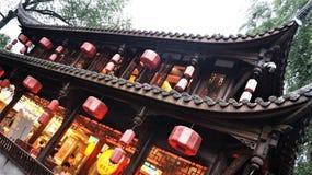 Het oude Chinese kasteel van de tempelpagode royalty-vrije stock fotografie