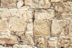 Het oude close-up van de steenmuur Royalty-vrije Stock Afbeeldingen